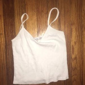 White crop top size medium in great shape bershka